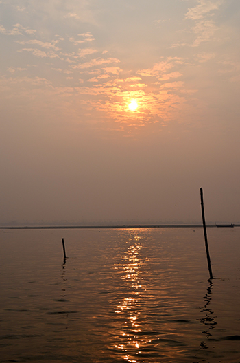 Sunrise at Sangam