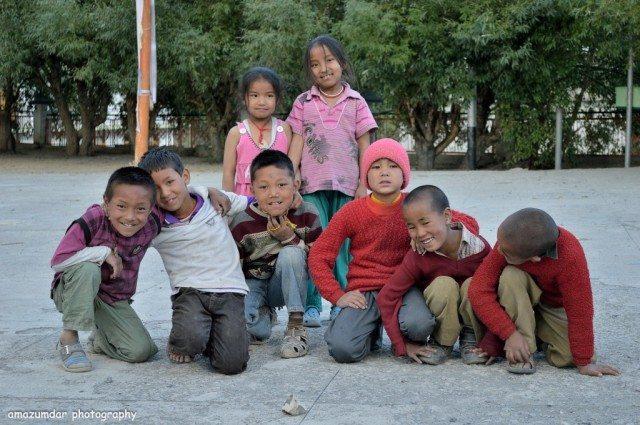 Children Inside Kaza Monastery