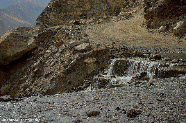 Waterfall onway to Nako to Tabo