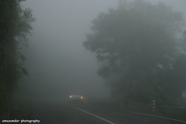 Foggy Road to Shimla