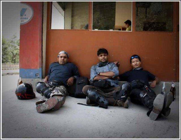 (Left to right Surya, me & Deepak Rawat)