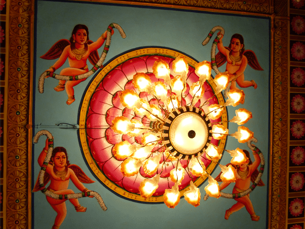 ceiling inside padmanabhan temple