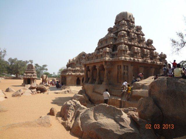 Beautiful carvings on Pancha Ratha
