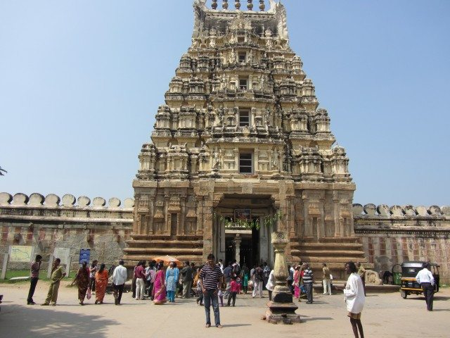 Close up of the front gopuram