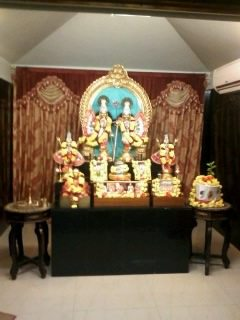 deity inside hare krishna temple