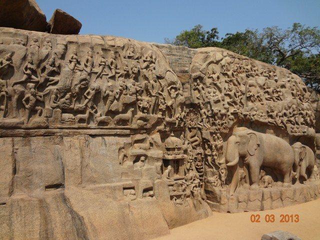 Arjuna penance cave