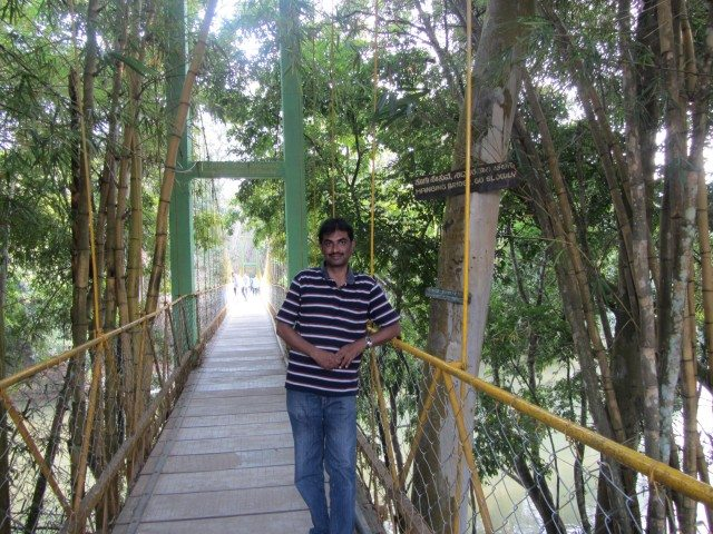 Hanging Bridge over River Cauvery at the entrance