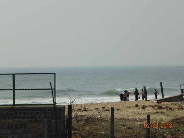 Beach view from shore temple