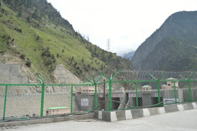 Quick view of the Karcham Dam - Jaypee Project