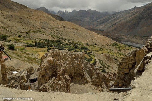 View of Spiti from Dhankar