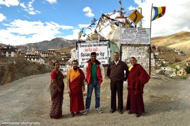 With Monks At Kibber