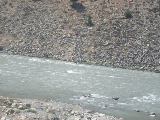 River Indus with all its fury