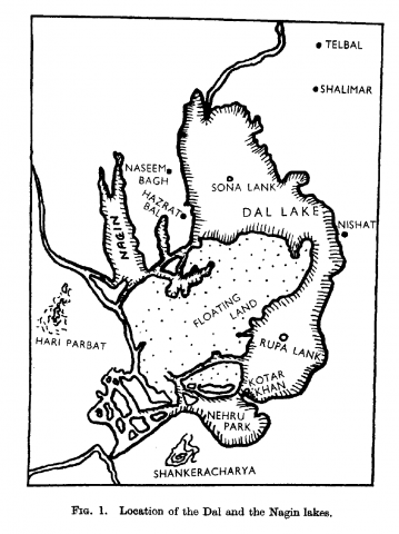 Map of Dal Lake