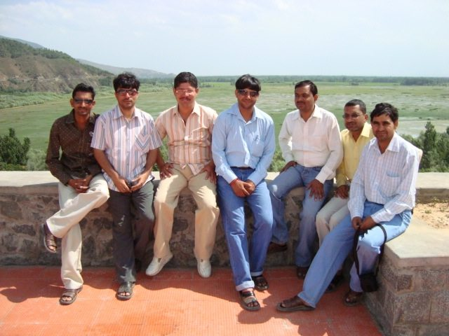 Our group, Wular Lake in the background