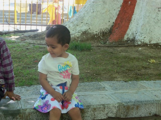 Dear Pavani at the temple