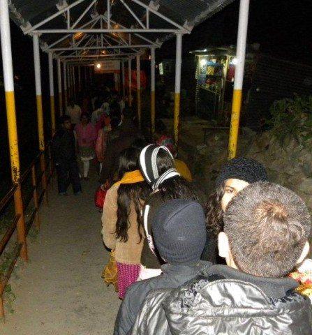 long queue for Darshan