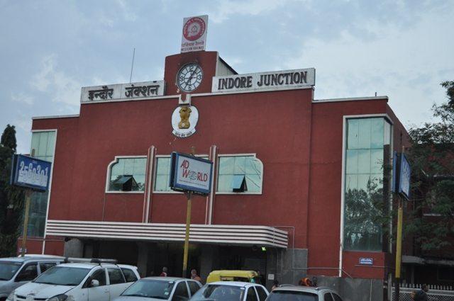 Entrance for Platform No. 1 i.e. Meter Gauge side at Indore Station.