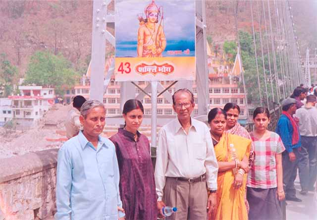 With parents, Rishikesh