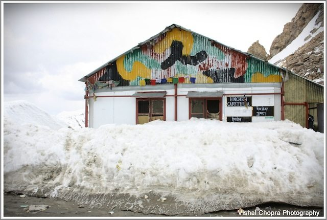 A view of Army Canteen at the KhardungLa Top