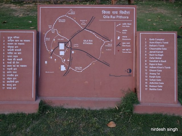 Qila Rai Pithora Layout Map - Press Enclave Road