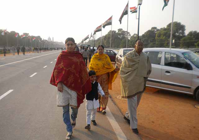 At India Gate on Republic Day