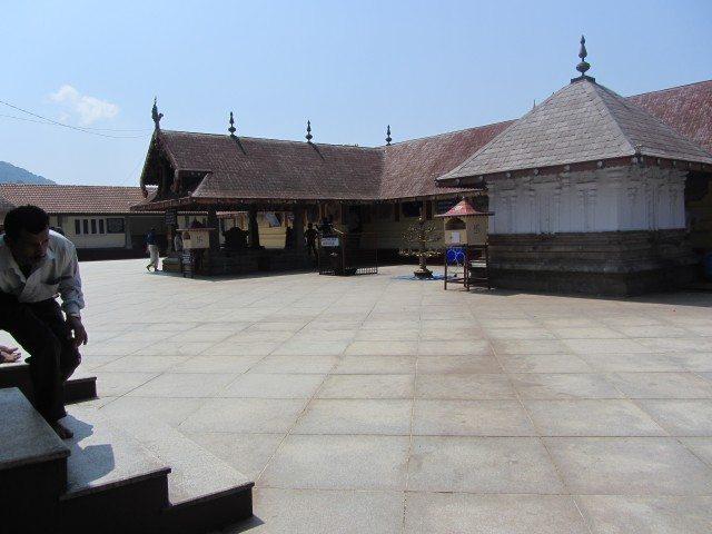 Interiors resembling temples in Kerala