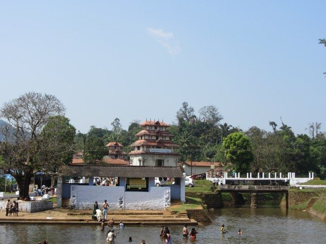 View of the temple from the Triveni Sangama