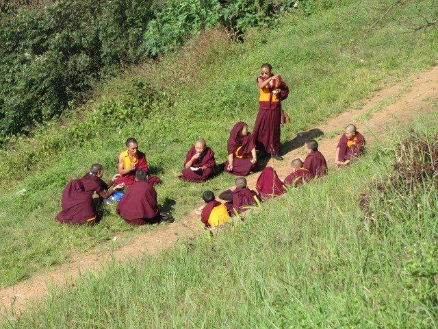 The Tibetan group at Raja seat