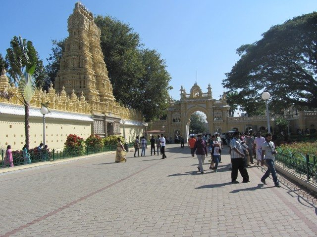 The temple inside the Mysore Palace Complex