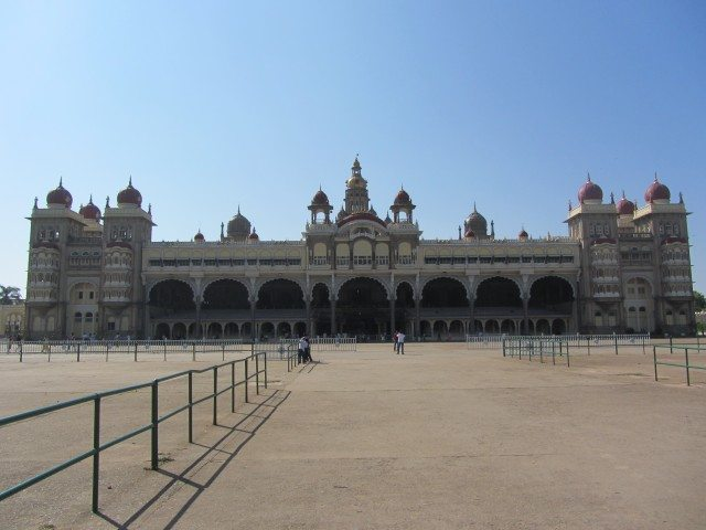 Front view of the Majestic Mysore Palace