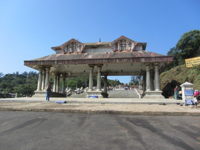 Entrance to the Talacauvery temple complex