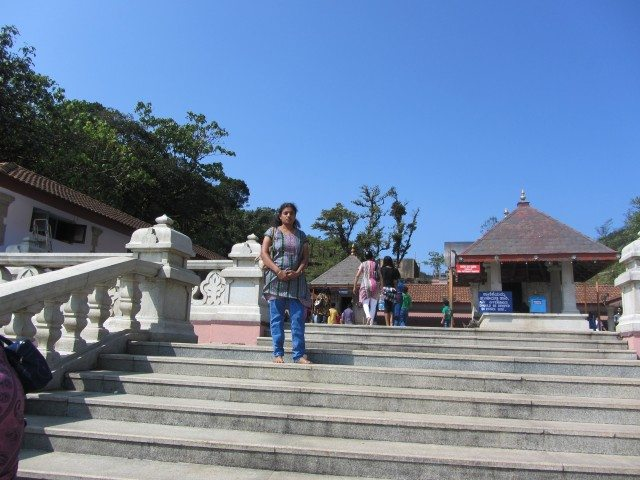 Steps leading upto Sage Agasthya and Ganapthi temples in the background