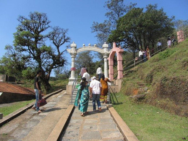 The start of the climb to the Brahmagiri Hill
