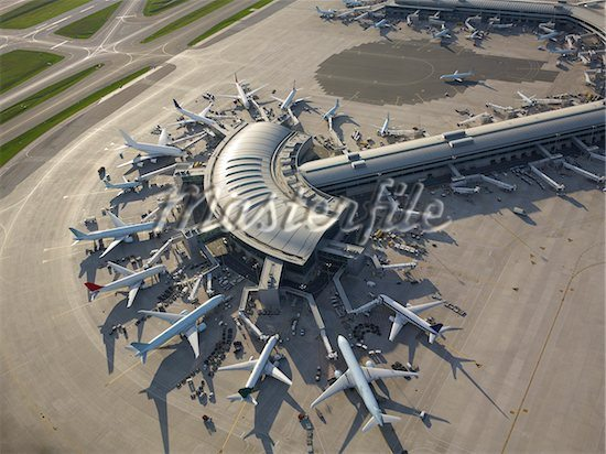 Toronto Airport Aerial View