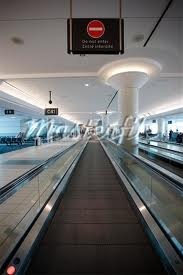 Moving Walkway inside Toronto Airport