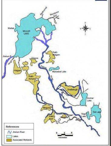 Wular on map
