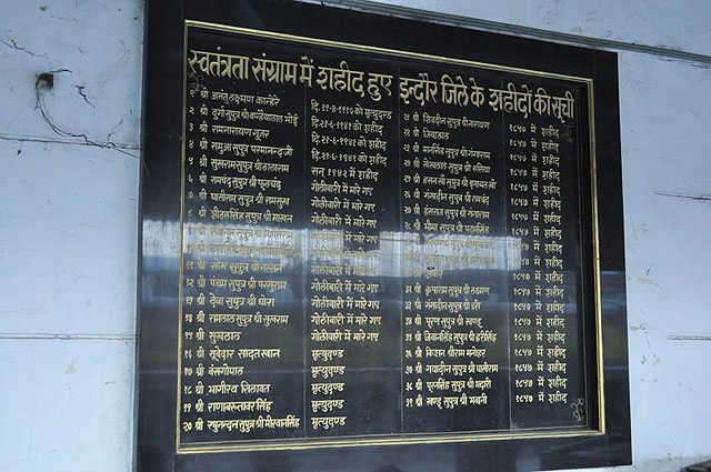 List of Freedom Fighters from Indore. A very good gesture indeed.