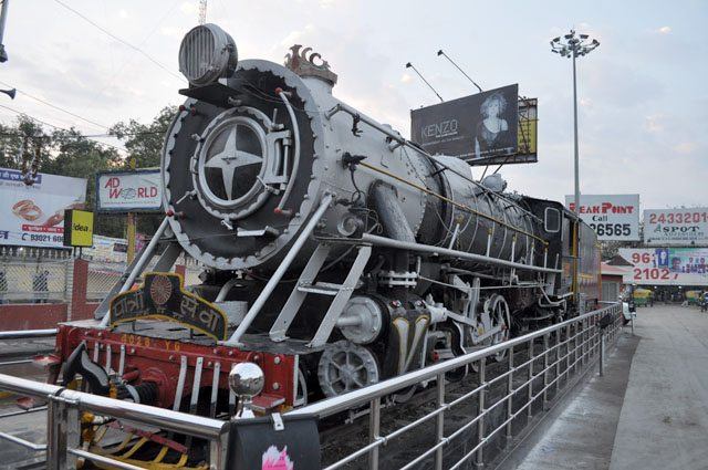 A beautiful display at the Indore Railway Station. (Meter Gauge side)