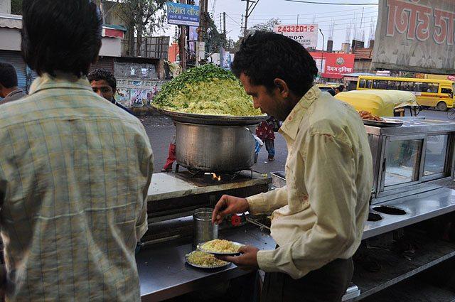 The omnipresent poha - jalebi in Indore.