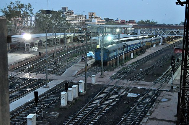 Indore Station as seen from flyover.