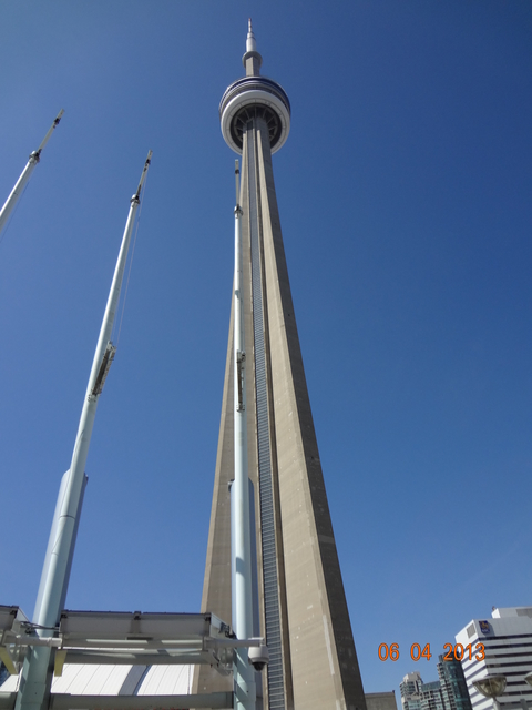 CN Tower on our way to Apartment hunting