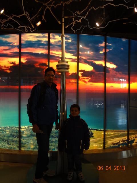 CN Tower model inside CN Tower