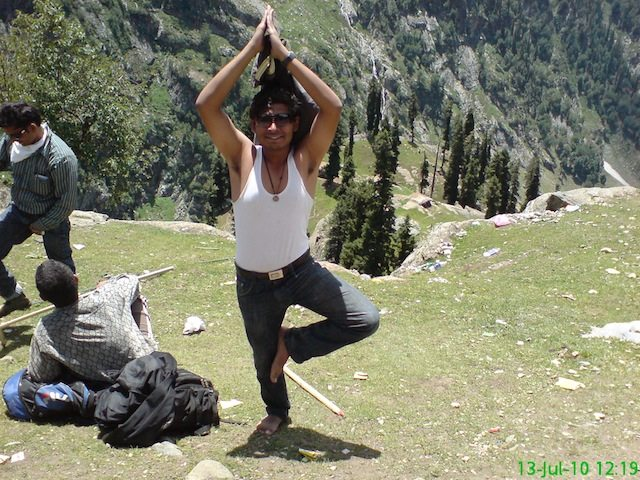 Shekhar enjoying at Pissu Top
