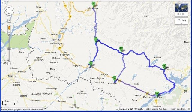Different roads to Udhampur