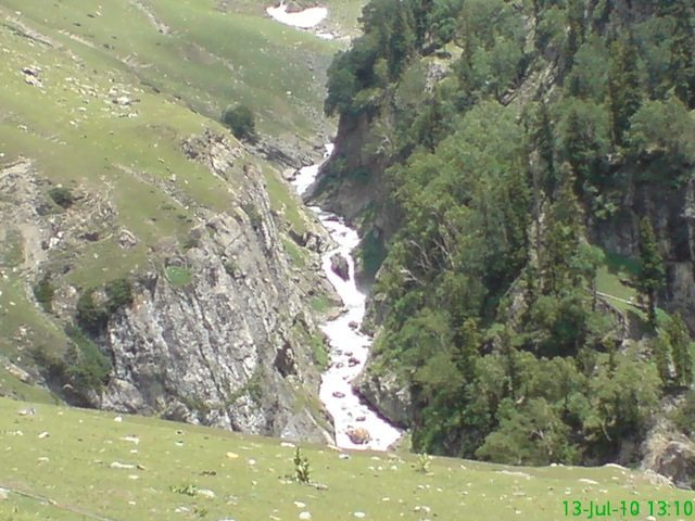 River flowing in the valley