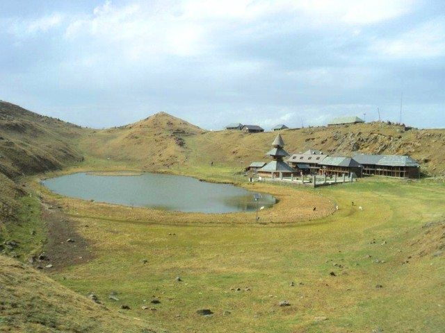 Prashar Lake from a different hill