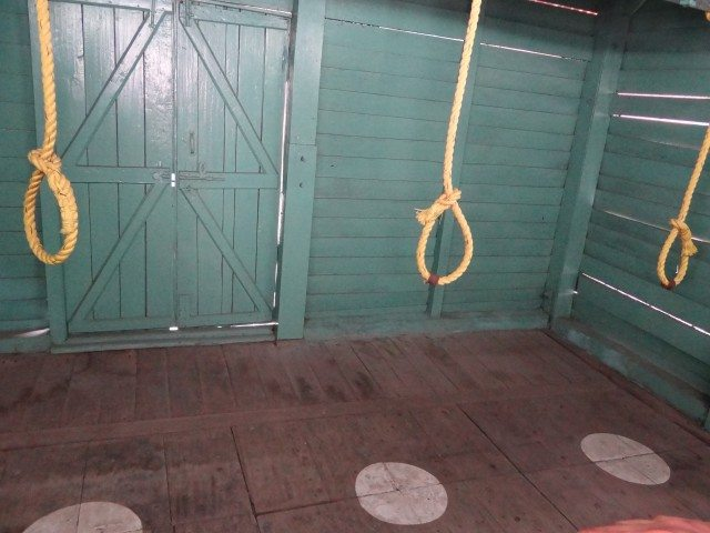 The gallows at the jail
