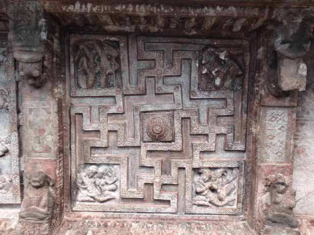 Cave 2 - Swastik on Roof