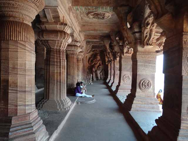 Cave 3 - Sculpted Pillars and Corbels