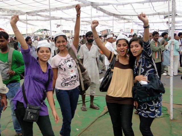 Anna Supporters at Ramlila Maidan.